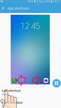 samsung app shortcuts