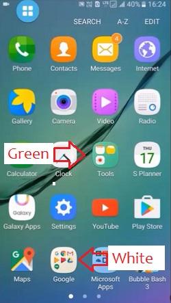 samsung change folder background color