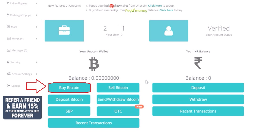How to buy bitcoin from unocoin online buy bitcoin in india using unocoin wallet ccuart Choice Image