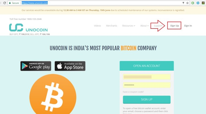 How to Create Unocoin Bitcoin Wallet Account