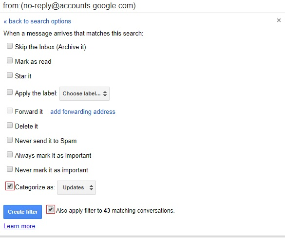 create gmail email filter - gmail tips