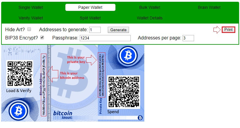 create a bitcoin paper wallet -bitcoin cold storage