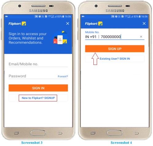 Order in Flipkart Online Shopping App