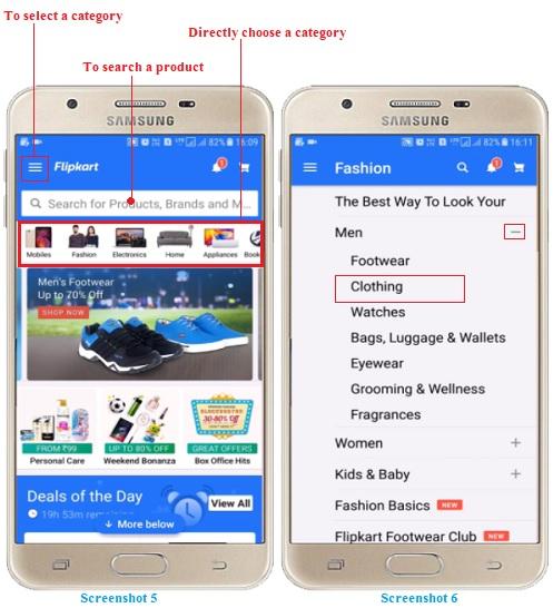 Order on Flipkart Online Shopping App