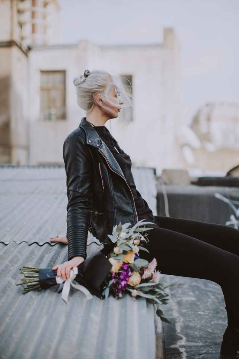 grey haired woman menopause