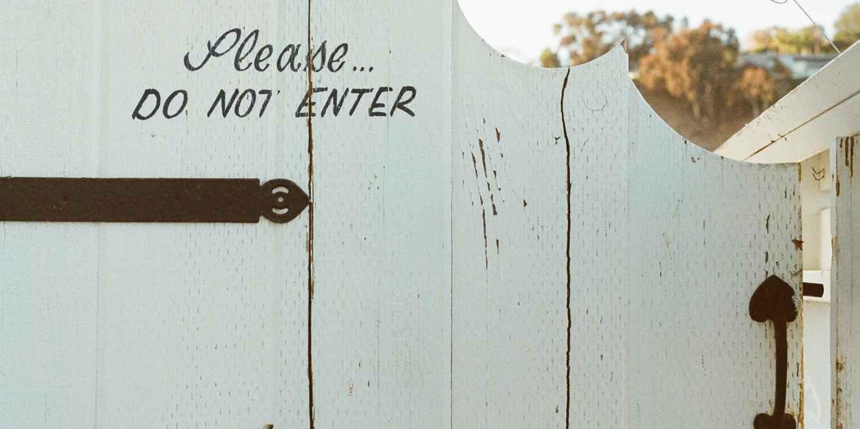 Creating Healthy Boundaries: Do Not Enter