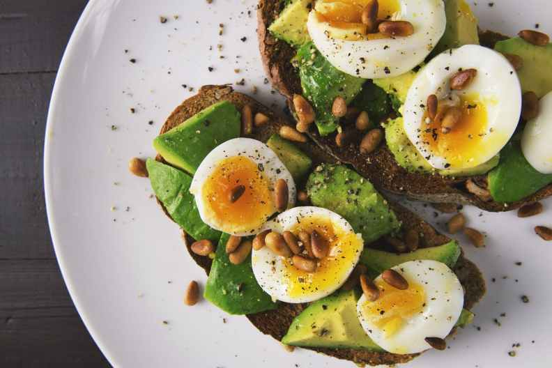 Healthy Food Period Advice Natural Eggs Avocado