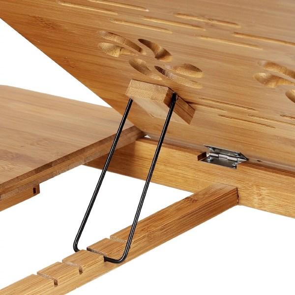 Songmics Bamboo Foldable Laptop Desk - Ilapdesk