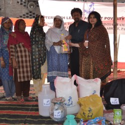 Food Distribution among Badami Bagh Lahore affected families 2015