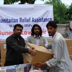 Hyginene Kits and NFI Distribution among IDPs Buner and Swat