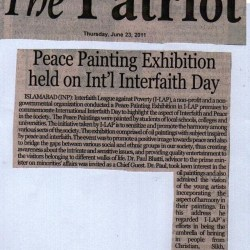 Peace Painting Exhibition held on Int'l Interfaith Day