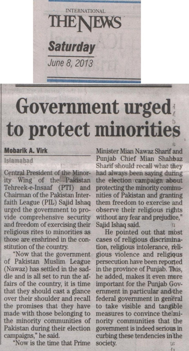 Government Urged To Protect Minorities