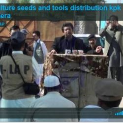 Agriculture seeds and tools distribution Nowshera