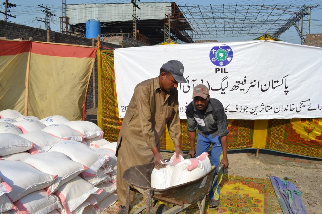 Food and NFI distribution in Badami Bagh- Lahore
