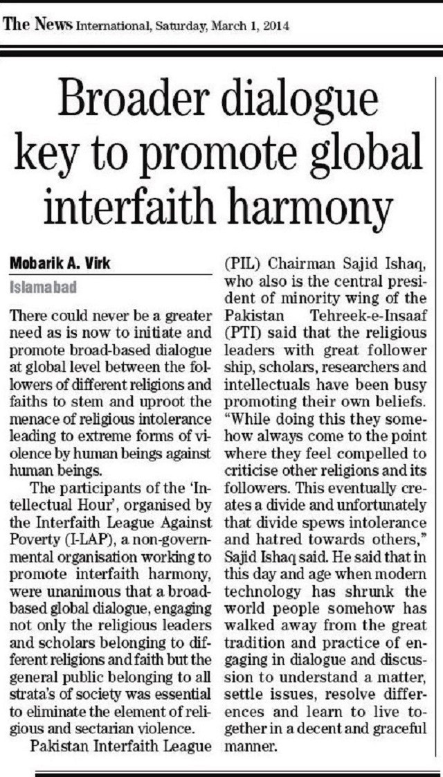 Broader dialogue key to promote global interfaith harmony