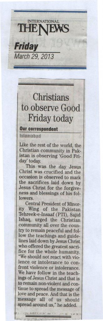 Christians to observe Good Friday today