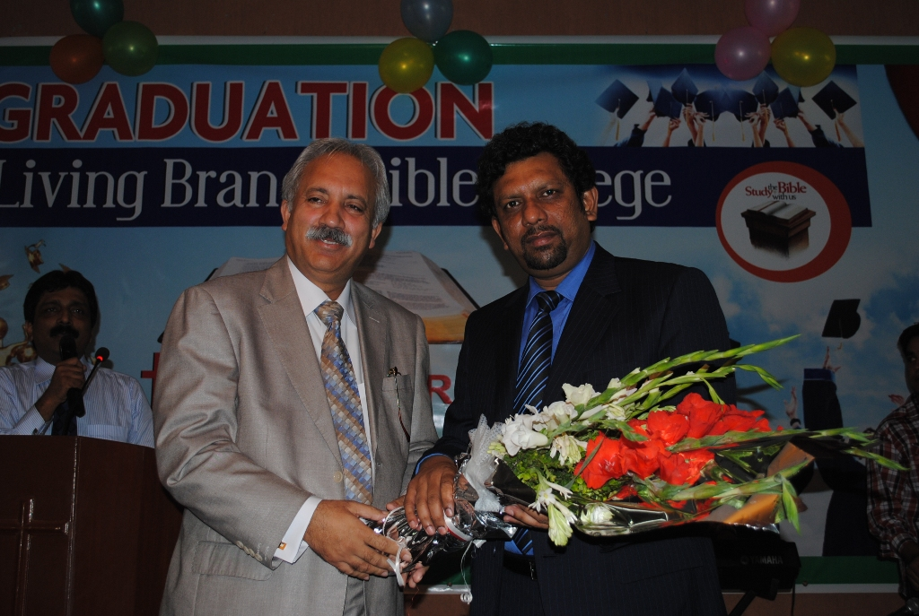 Chairman PIL As Chief Guest in Living Brach Bible collage