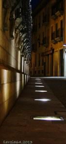 Wall at night