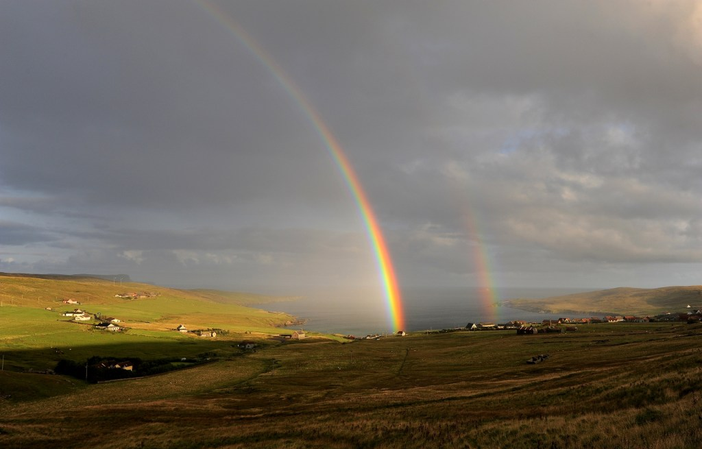 Arcobaleno nei pressi di Gulberwick - SOUTH MAINLAND