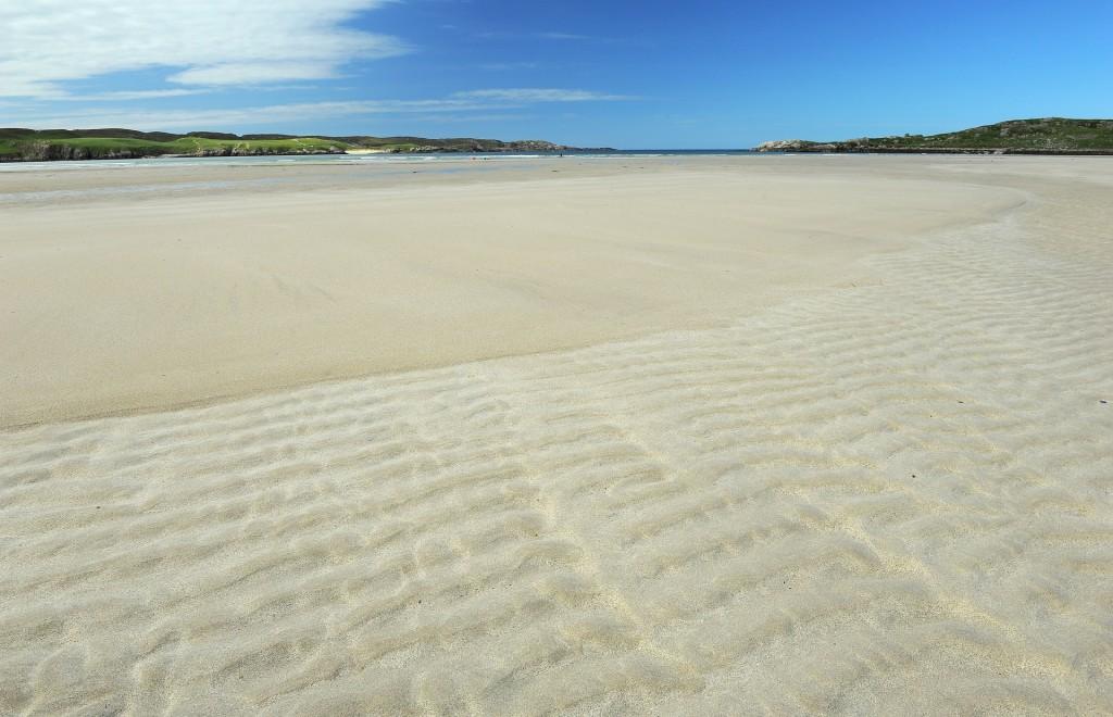 La vasta distesa di sabbia della ARDROIL BEACH