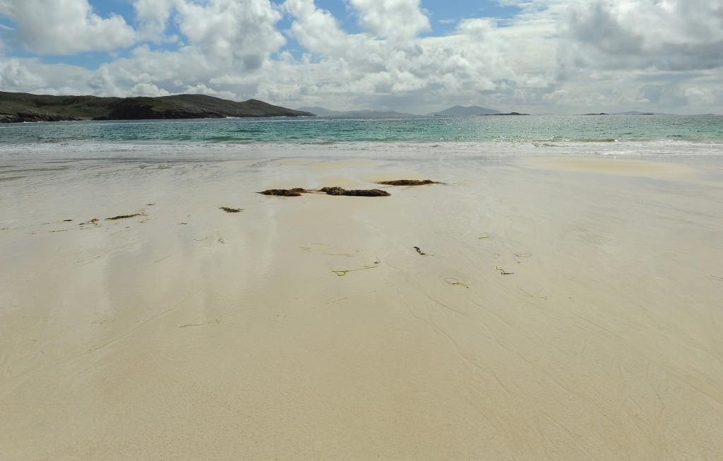 La spiaggia di HUISINISH nell'isola di HARRIS