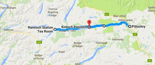 """""""SCENIC DRIVE"""" da Pitlochry alla Rannoch Station"""