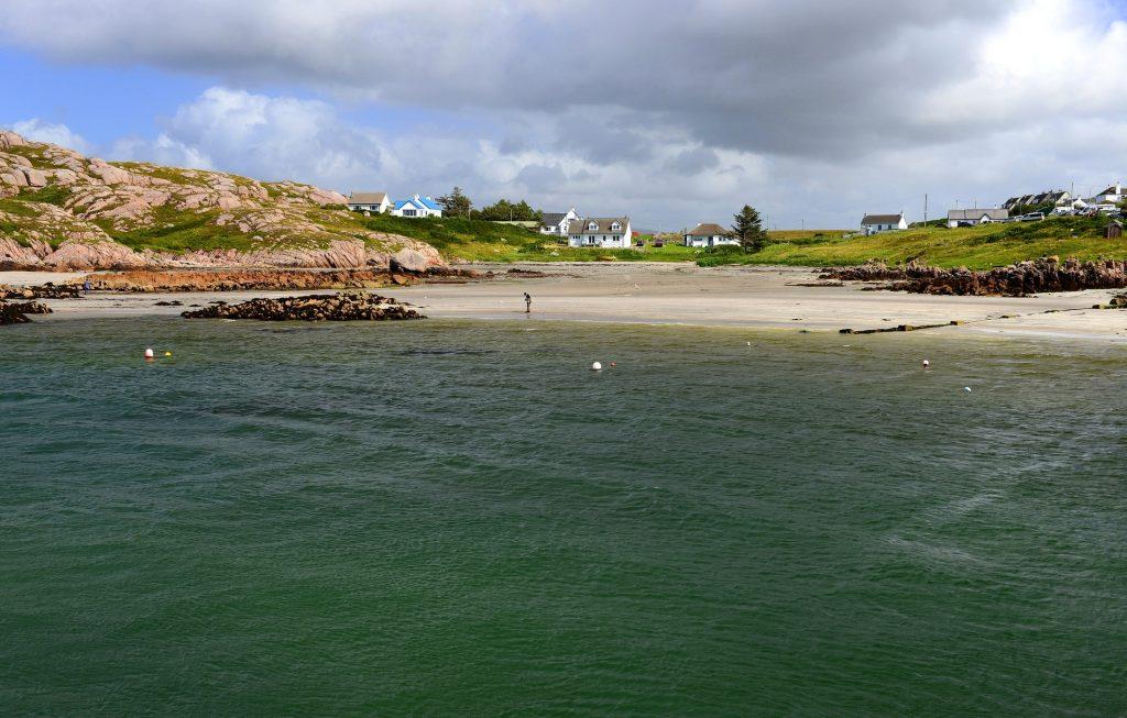 Il minuscolo villaggio di Fionnphort, punto d'imbarco per IONA