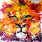 Red Lion 50x65cm - Venduto