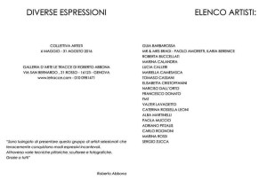 exhibition Different Expressions- Le Tracce Art Gallery Genoa