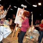 Live painting performance in Genoa