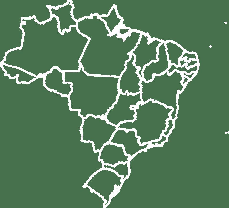 Karte von Kafeeanbau in Brasilien