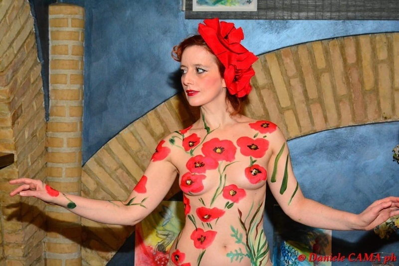 Flowerincage - Monica Argentino - Body Painting Live