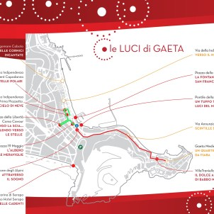 Mappa Percorso Luminarie Gaeta 2016