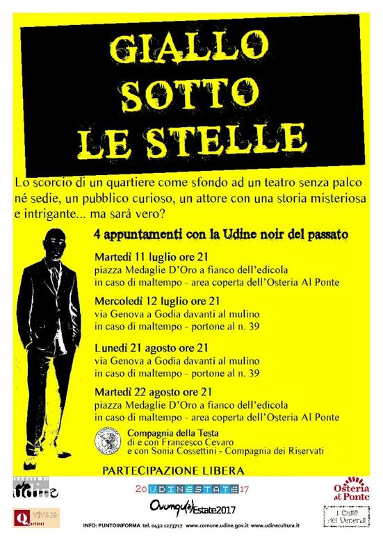 """locandina de """"giallo sotto le stelle"""""""