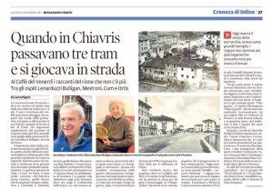 Articolo Messaggero Veneto del 14/12/2017