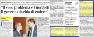 Giorgetti e il nodo Federico Arata
