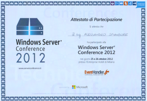Attestato Windows Server 2012