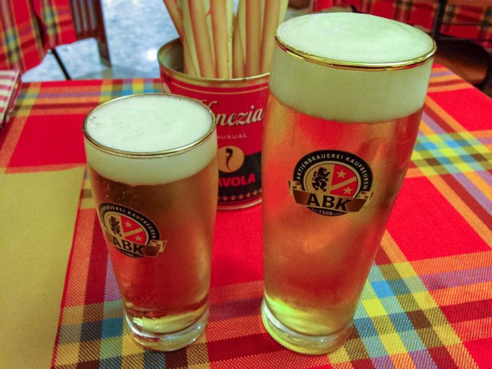 Birra alla spina Pizzeria Venezia