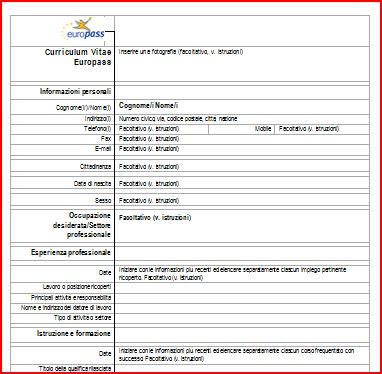 Modello di curriculum vitae in francese writing assignments for Modello di paese francese