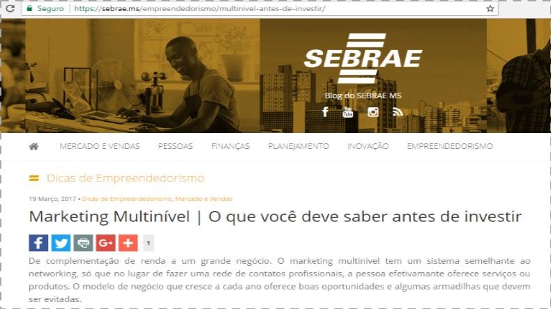 Marketing Multinível Sebrae MS