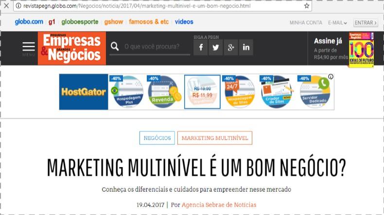 f87aeedcd Marketing Multinível SEBRAE  Promovendo o MMN desde 2003