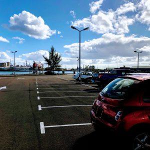 Parking du Caudan à l'île Maurice