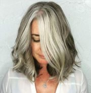 youthful hairstyles grey hair