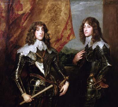 Charles-Louis et Robert de Bavière, 1645 - Antony Van Dyck - Musée du Louvre à Paris