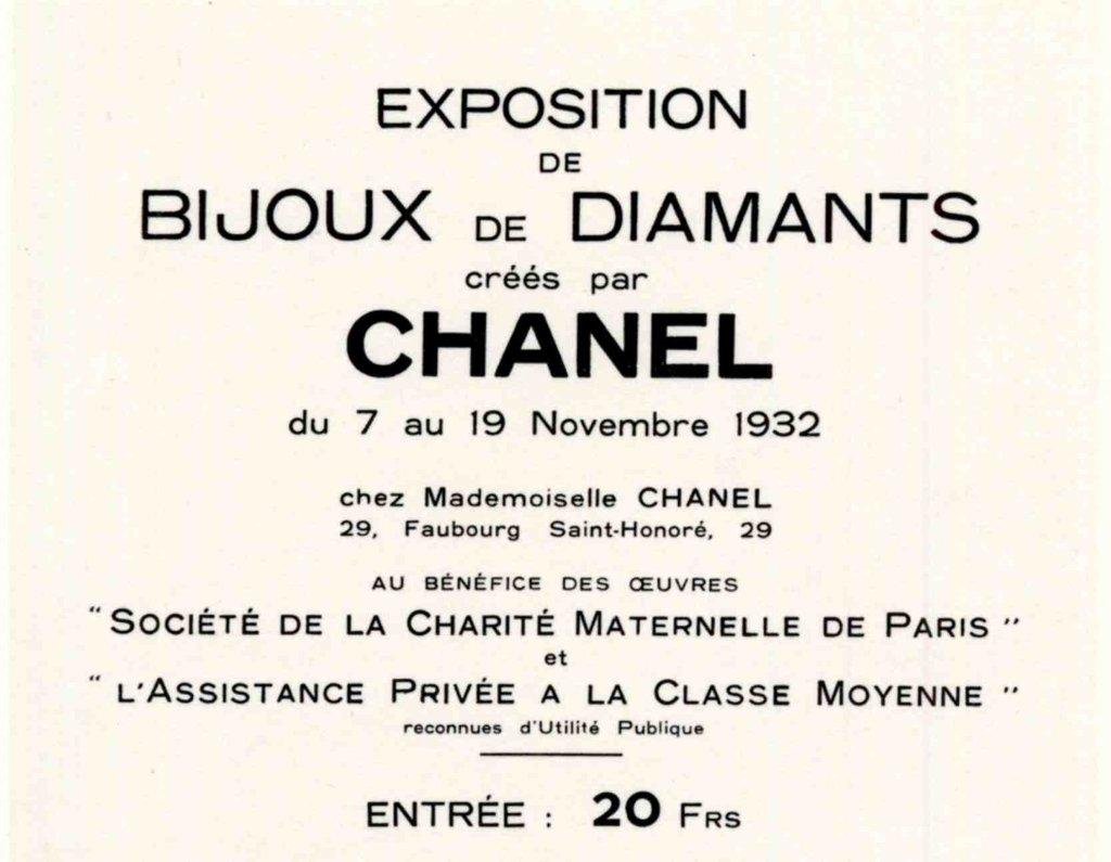 carton invitation - Chanel - 1932