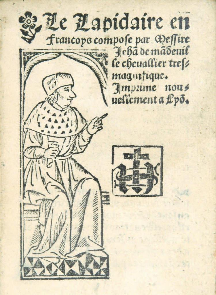 le lapidaire - Jean de Mandeville