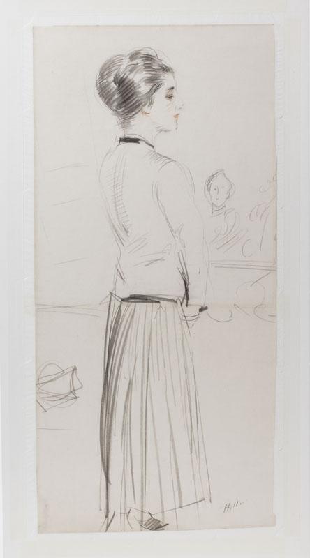 dessin de Jeanne toussaint par Paul César Helleu