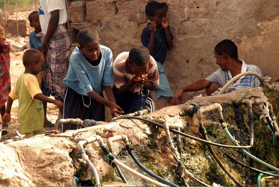 pénurie d'eau potable