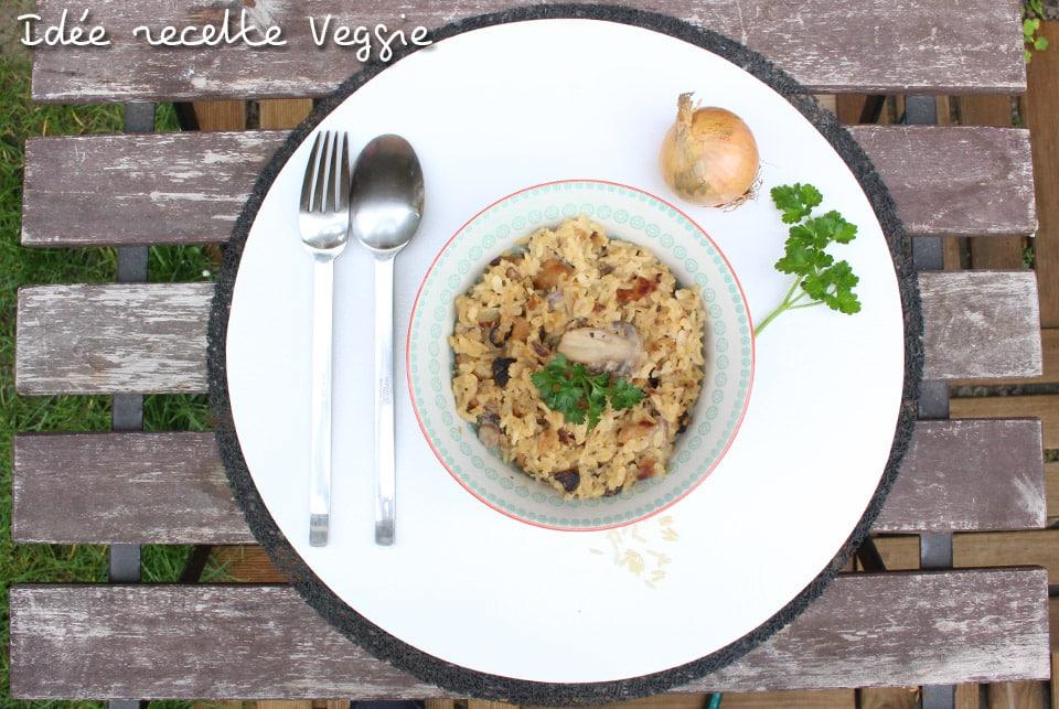Mes plats veggies #1 : Riz aux champignons veggie