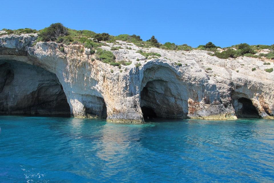 Blue cave Séjour à Zante il etait une veggie